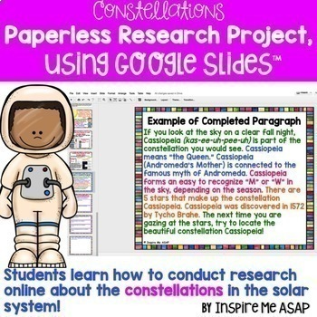 Digital Research and Interactive Projects about the Constellations