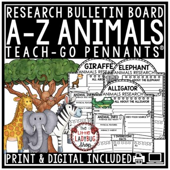Digital Resource Animals Research -  for Google Classroom Activities