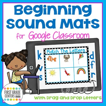 Digital Resource Beginning Sound Mats with Movable Letters