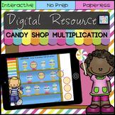 Google Classroom™ Activities Math Multiplication Games for Math Centers Digital