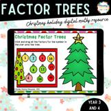 Digital Resource Christmas Trees - Find the Factors - Google Slides Resource