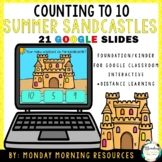 Digital Resource Counting 1-10 Summer Sandcastles - Distan
