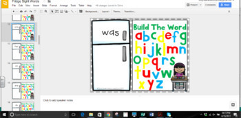 Digital Resource: Sight Words (Fry Words 1-50) with Movable Letters