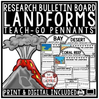 Digital Geography Landforms Activities Research for Google Slide Templates
