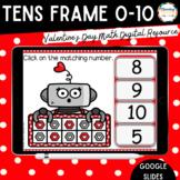 Digital Resource Love Robot Tens Frames 0-10 - Distance Learning