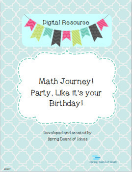 Digital Resource: Math Journey- Party, Like It's Your Birthday!