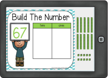 Digital Resource: Place Value Tens and Ones with Moveable Pieces