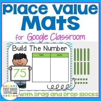Digital Resource Place Value Tens and Ones with Moveable Pieces