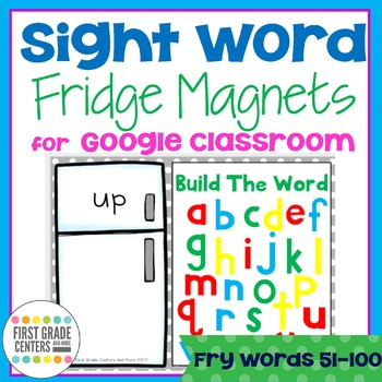 Digital Resource Sight Words Fry Words 51-100 with Movable Letters