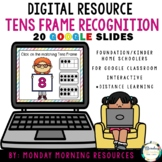 Digital Resource Tens Frame Recognition Numbers 1-10 - Dis