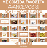 Digital Resource on Google Slides- Avancemos 1 3.1 - La comida