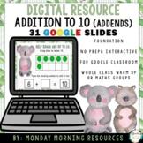 Digital Resources - Addition to 10 - Addends - Native Aust