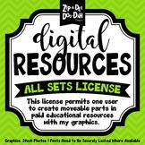 Digital Resources All Sets License {Zip-A-Dee-Doo-Dah Designs}