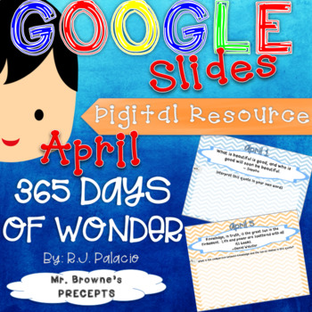 Digital Resource for 365 Days of Wonder for full month of April