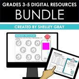 Digital Resources for Grades 3-5 Math BUNDLE | Distance Learning