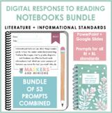 Digital Response to Reading Notebooks (Fourth Grade, RI + RL Standards)