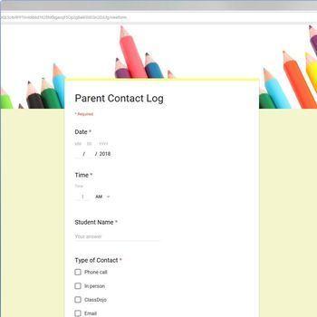 Digital Parent Contact Form (Google Forms)
