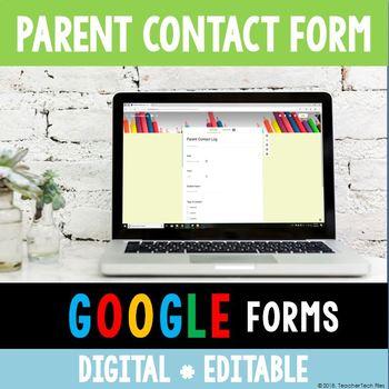 Digital Parent Contact Log (Google Forms)