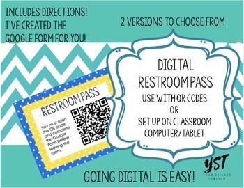Digital Restroom Pass (Using QR Code & Google Forms)