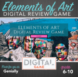 Digital Review Game - Elements of Art Interactive Review Game