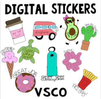 Digital Reward Vsco Stickers For Seesaw And Distance Learning Tpt