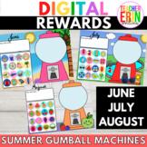Digital Rewards Gumball Machines SUMMER Months - Beach, Sw