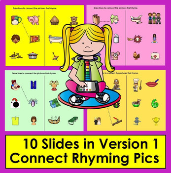 Digital Rhyming For Google Slides Kindergarten First Grade Distance Learning