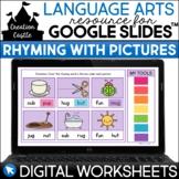 Digital Rhyming Worksheets with Pictures for Google Slides™