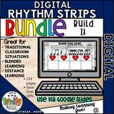 Digital Rhythm Strips BUNDLE - Listen & Build It Activity