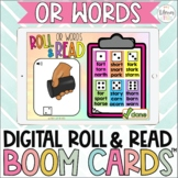 Digital Roll & Read Boom Cards™ | R Controlled Vowels | or words