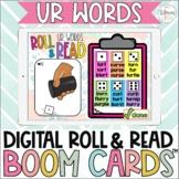 Digital Roll & Read Boom Cards™| R Controlled Vowels | ur words