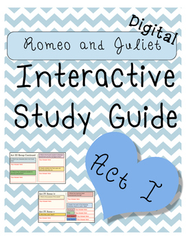 Digital Romeo and Juliet Act I Interactive Notebook