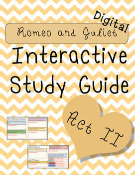Digital Romeo and Juliet Act II Interactive Notebook