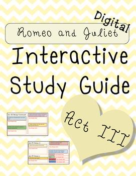 Digital Romeo and Juliet Act III Interactive Notebook