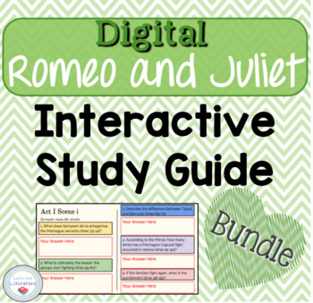 Digital Romeo and Juliet Interactive Notebook