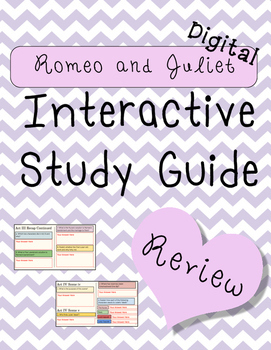 Digital Romeo and Juliet Interactive Notebook Review