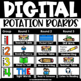Reading & Math Center Rotation Chart with Timers | ELA & Math Rotation Boards