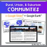 Digital Rural, Urban, and Suburban Communities Unit for Google Classroom™