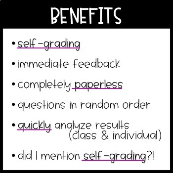 Digital SELF-GRADING Addition Tests for Google Forms / Classroom