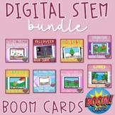 Digital STEM Building Challenge Boom Cards Year-Long BUNDL
