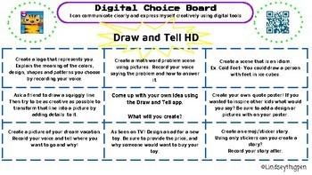 Digital Choice Board|  Draw and Tell HD App