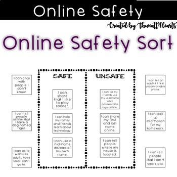 Online Safety Digital Footprint Sort By Thweatthearts Tpt
