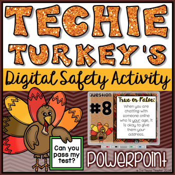 Digital Safety Thanksgiving Themed PowerPoint