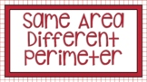 Digital Same Area Different Perimeter for Google