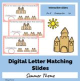 Digital Sandcastle Capital and Lowercase Letter Matching Google Slides