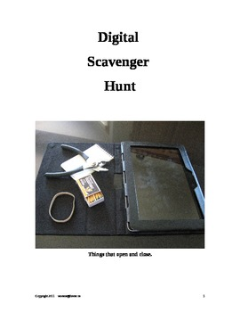 Digital Scavenger Hunts-Higher Level Thinking Skills - Lesson Plan