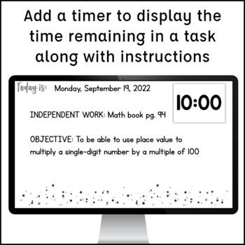 Digital Schedule Display {Editable}