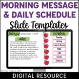 Digital Schedule & Morning Message Template | Distance Lea