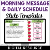 Digital Schedule & Morning Message Template | Distance Lea