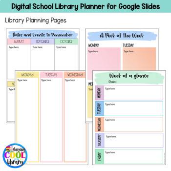 Digital School Library Planner (Google Slides)